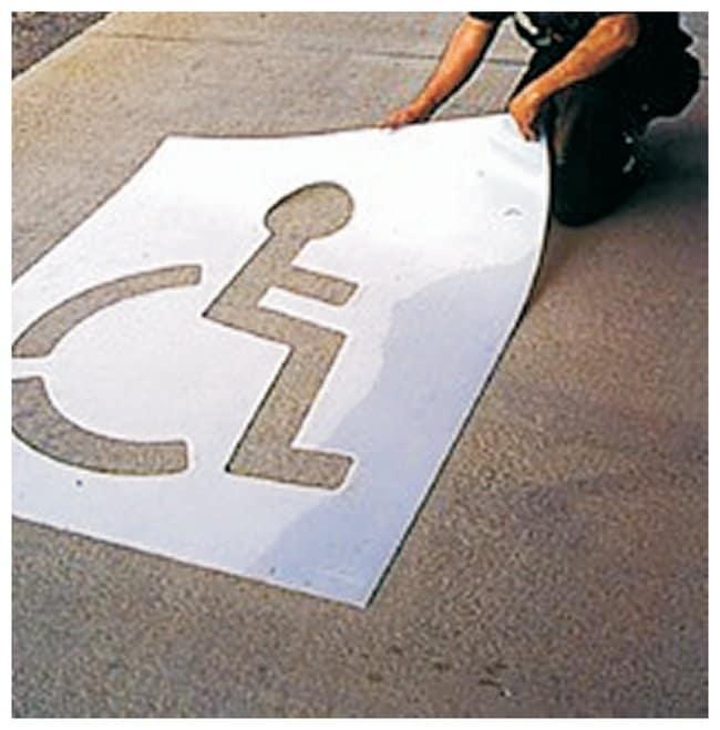 Accuform Signs Message and Symbol Stencils Handicap Symbol:Gloves, Glasses