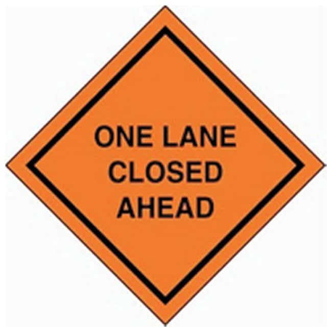 Accuform Signs Roll-up Construction Signs Legend: One Lane Closed Ahead:Gloves,