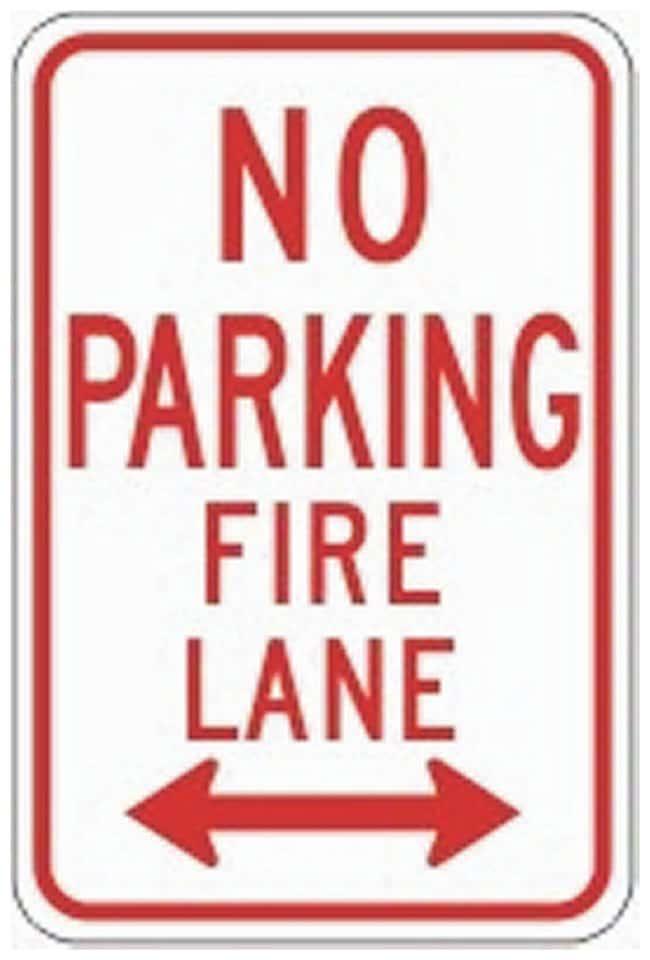 Accuform Signs Traffic Safety Signs: No Parking Reflective aluminum; 18H