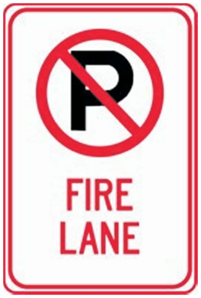 Accuform Signs Traffic Safety Signs: No Parking:Gloves, Glasses and Safety:Facility