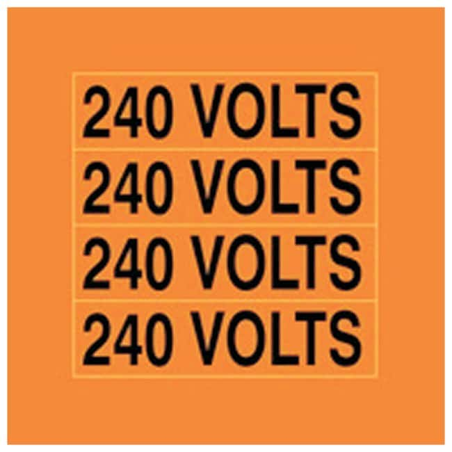 Accuform Signs Voltage Markers Legend: 240 VOLTS:Gloves, Glasses and Safety