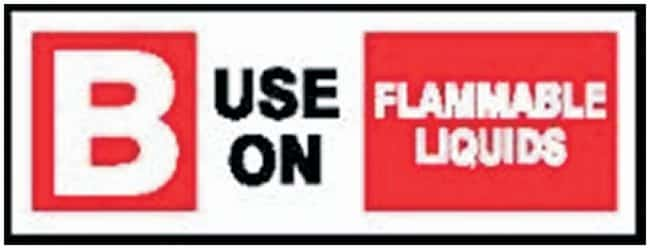 Accuform Signs Performance Fire Extinguisher Labels Legend: B Use on Flammable