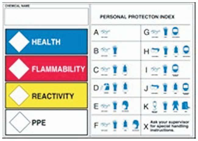 Accuform Signs HMCIS Protective Equipment Label Adhesive vinyl; Size: 5