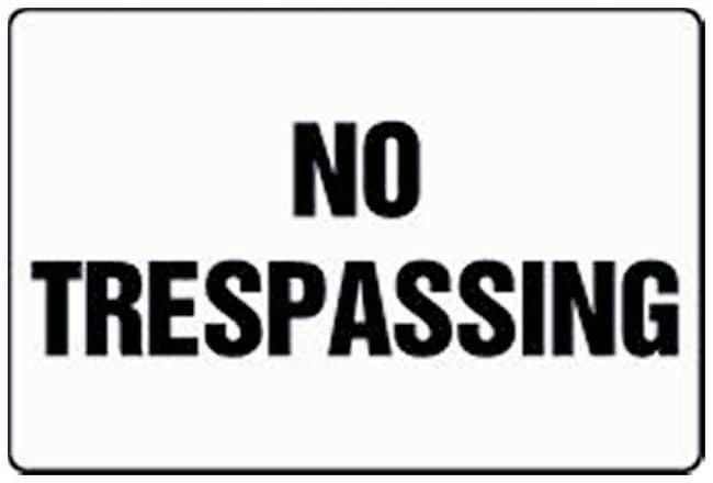 Accuform Signs No Trespassing Legend: No Trespassing; Plastic; 24 x 36