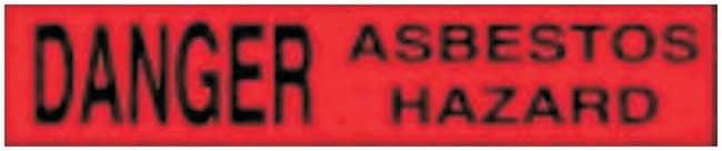 Accuform Signs Barricade Tapes Legend: DANGER ASBESTOS HAZARD:Gloves, Glasses