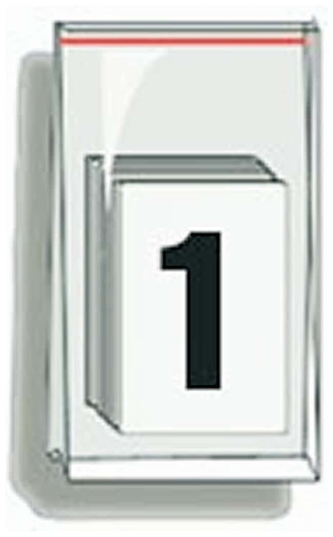 Accuform Signs Self-Adhesive Individual Numerals Numeral 1:Gloves, Glasses