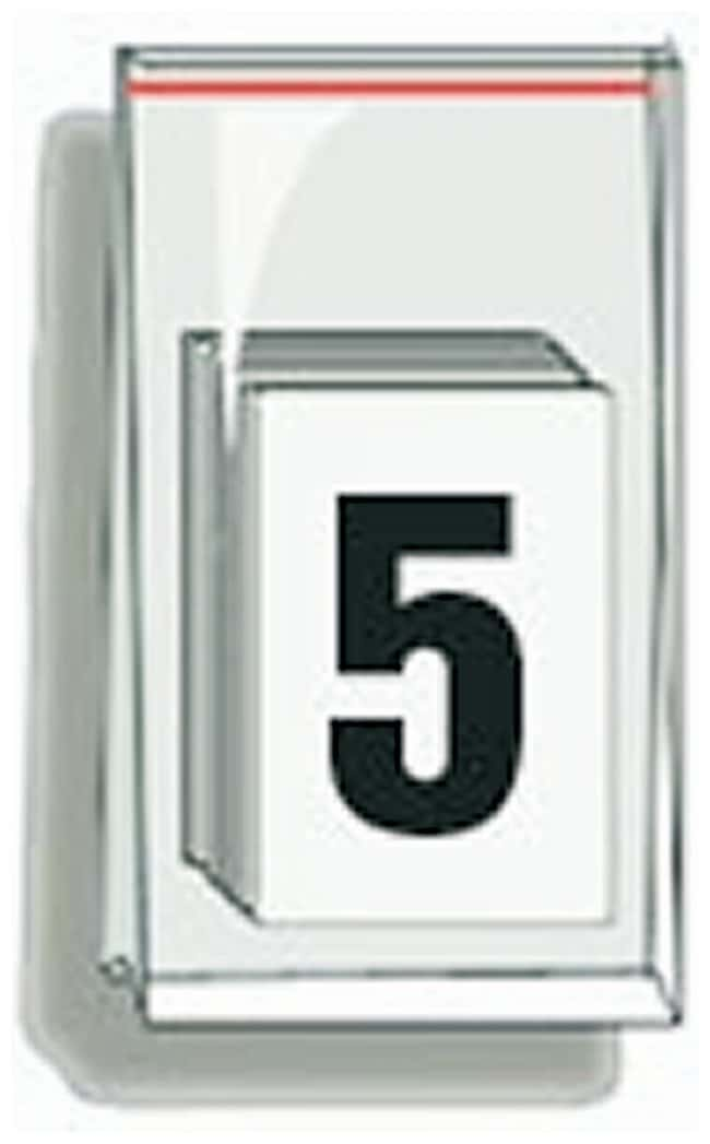 Accuform Signs Self-Adhesive Individual Numerals Numeral 5:Gloves, Glasses