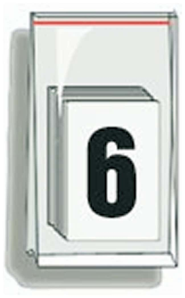 Accuform Signs Self-Adhesive Individual Numerals Numeral 6:Gloves, Glasses