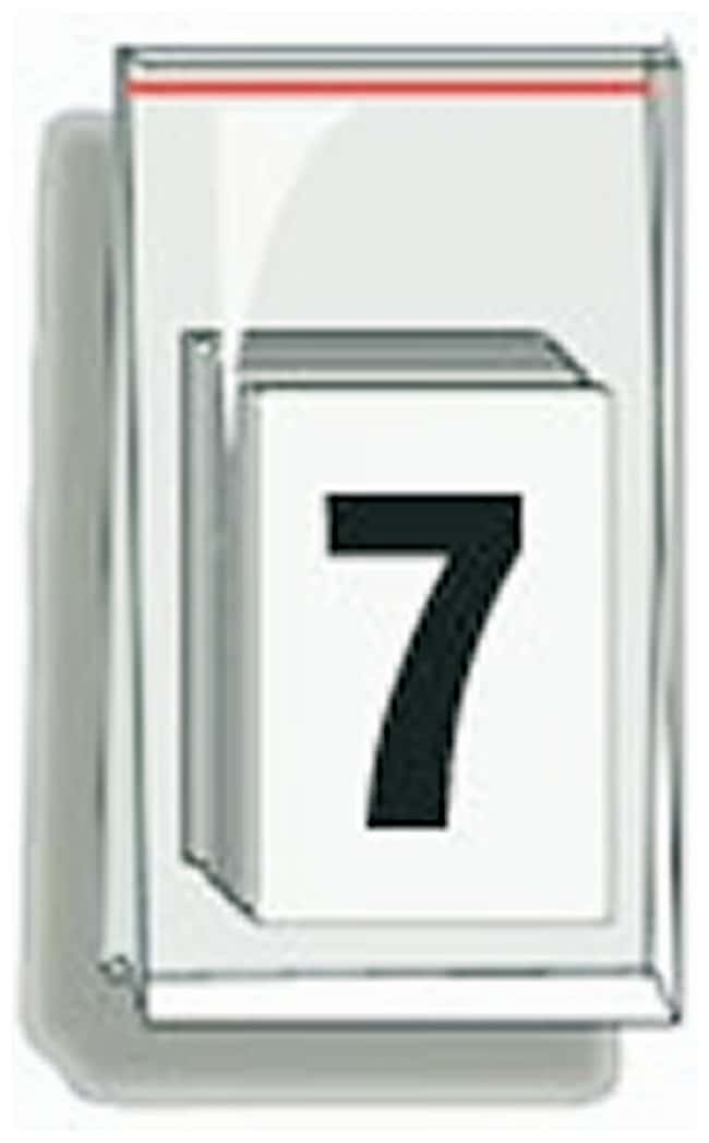Accuform Signs Self-Adhesive Individual Numerals Numeral 7:Gloves, Glasses
