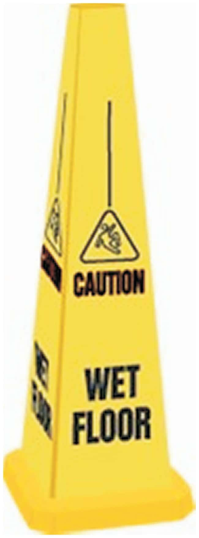 Accuform Signs Quad Warning Safety Cone, Wet Floor