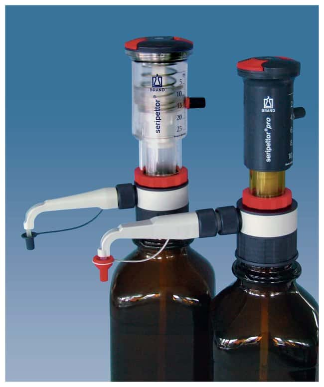 BRAND™ seripettor™ Bottletop Dispensers: Bottletop Diluters and Dispensers Carboys, Jars, and Liquid Storage