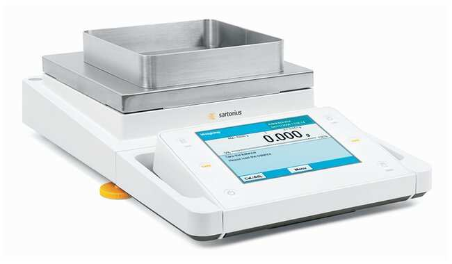 Sartorius Cubis MSA Toploader Balances: With Automatic Leveling and Draft