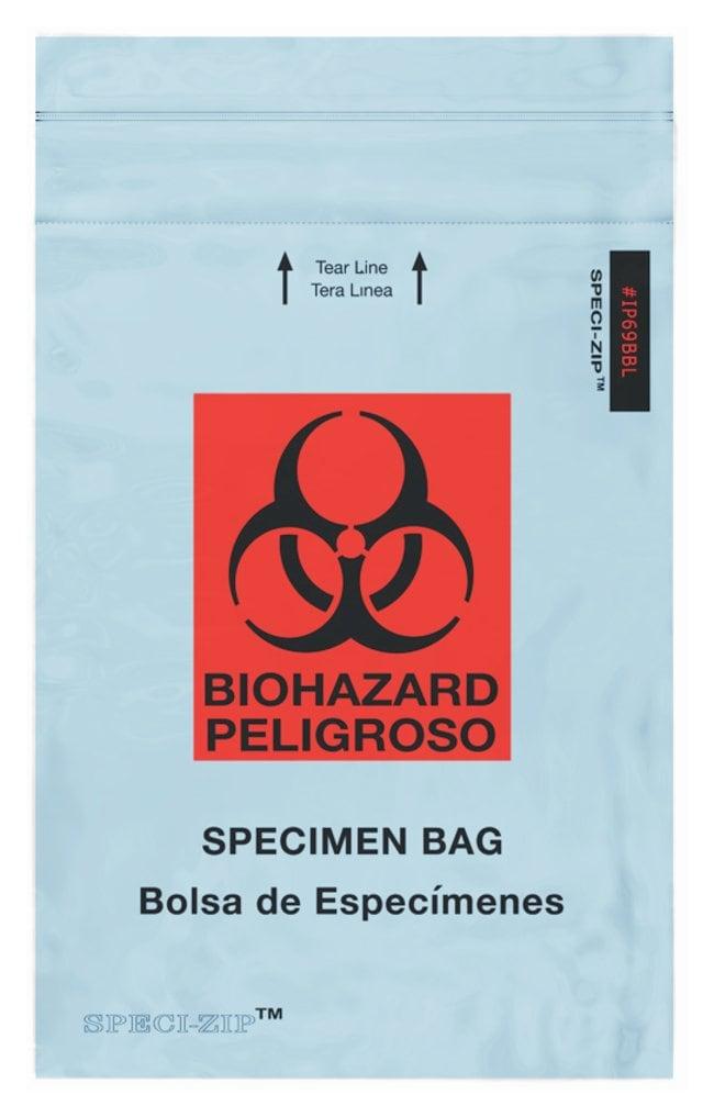 Minigrip SPECI-ZIP Reclosable Colored Biohazard Bags Blue Reclosable Bag;