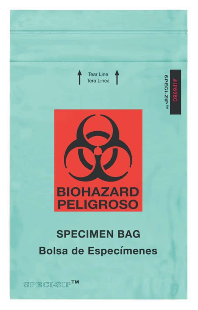 Minigrip SPECI-ZIP Reclosable Colored Biohazard Bags Green Reclosable Bag;
