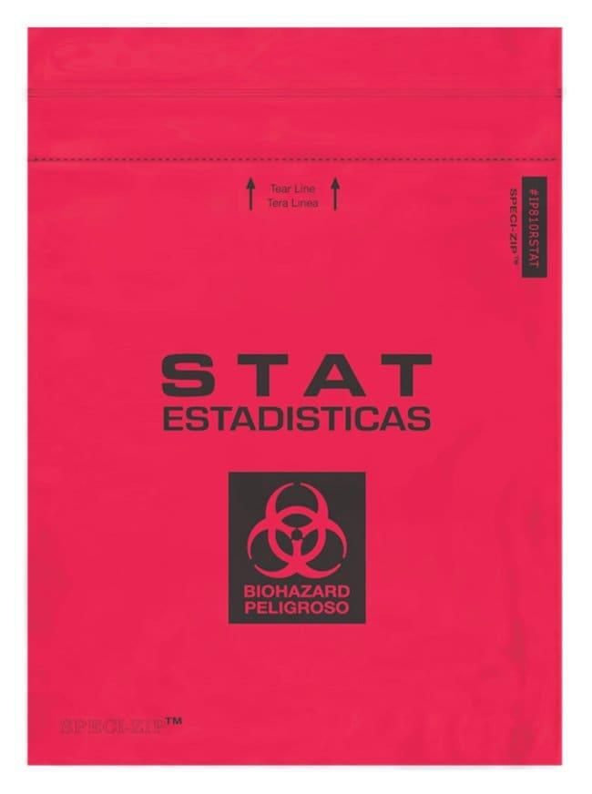 Minigrip SPECI-ZIP Reclosable Red Biohazard Bags Red Reclosable Bag; 8W