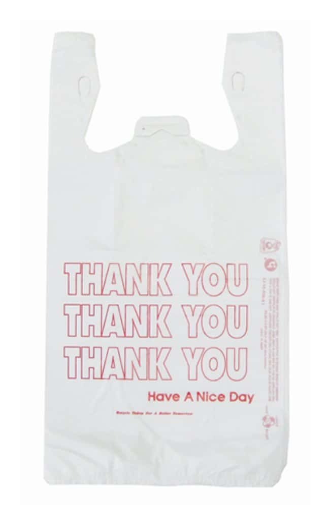 Minigrip T-Shirt Design Thank You Shopping Bags 7 L x 12 W x 22 in. H:First