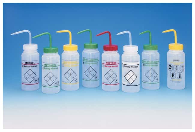 Bel-Art™ SP Scienceware™ Two-Color Wash Bottles - Safety-Vented™ and Safety Labeled, Wide-Mouth