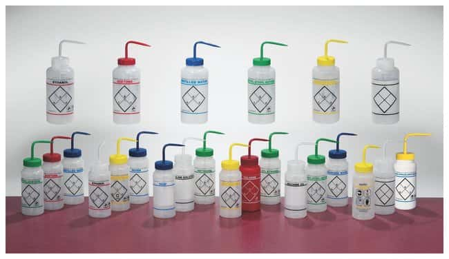 Bel-Art™ SP Scienceware™ Wide Mouth Color-Code Safety Labeled Wash Bottles: Bottles Bottles, Jars and Jugs