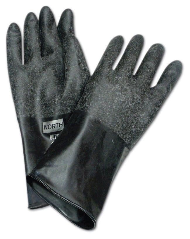 "Honeywell North Butyl Gloves Size 8; Rough""Grip-Saf"" finish;"