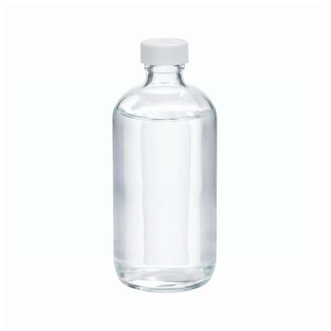 DWK Life Sciences Wheaton™ Clear Boston Rounds with Polyvinyl-lined Caps Convenience pack; Capacity: 8 oz. (250mL) DWK Life Sciences Wheaton™ Clear Boston Rounds with Polyvinyl-lined Caps