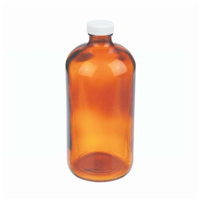 DWK Life Sciences Wheaton™ Amber Boston Rounds with Polyvinyl-lined Caps Convenience pack; Capacity: 32 oz. (1000mL) DWK Life Sciences Wheaton™ Amber Boston Rounds with Polyvinyl-lined Caps
