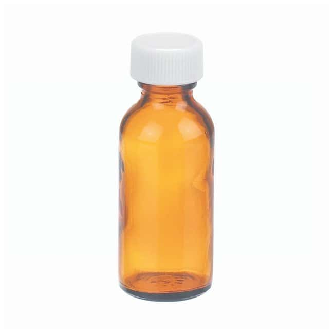 DWK Life Sciences Wheaton™ Amber Boston Rounds with PTFE Faced PE-lined Caps Capacity: 1 oz. (30mL) DWK Life Sciences Wheaton™ Amber Boston Rounds with PTFE Faced PE-lined Caps