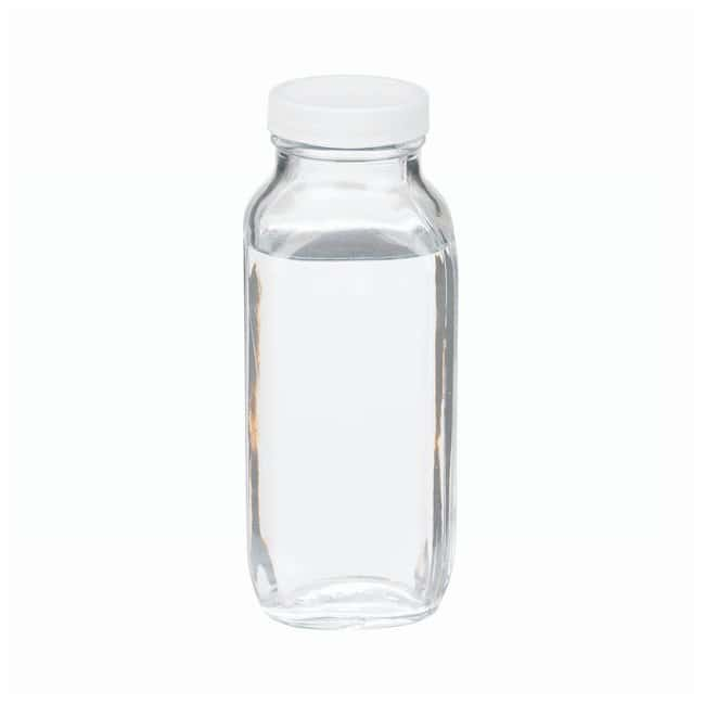 DWK Life SciencesWheaton™ Clear French Squares with Polyvinyl-lined Closures 16 oz. (500mL), 48mm-400 screw cap size; 24/Cs. DWK Life SciencesWheaton™ Clear French Squares with Polyvinyl-lined Closures