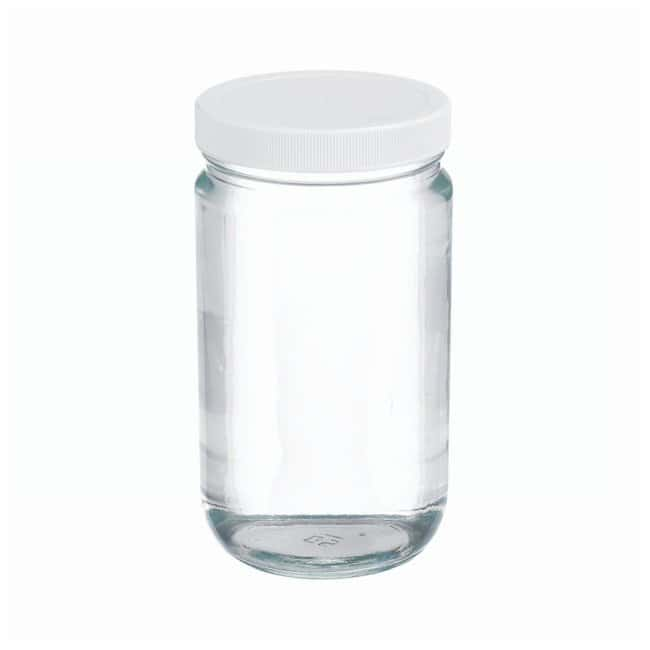 DWK Life SciencesWheaton™ Clear Straight-Sided Jars with Polyvinyl-lined Caps: Bottles Bottles, Jars and Jugs