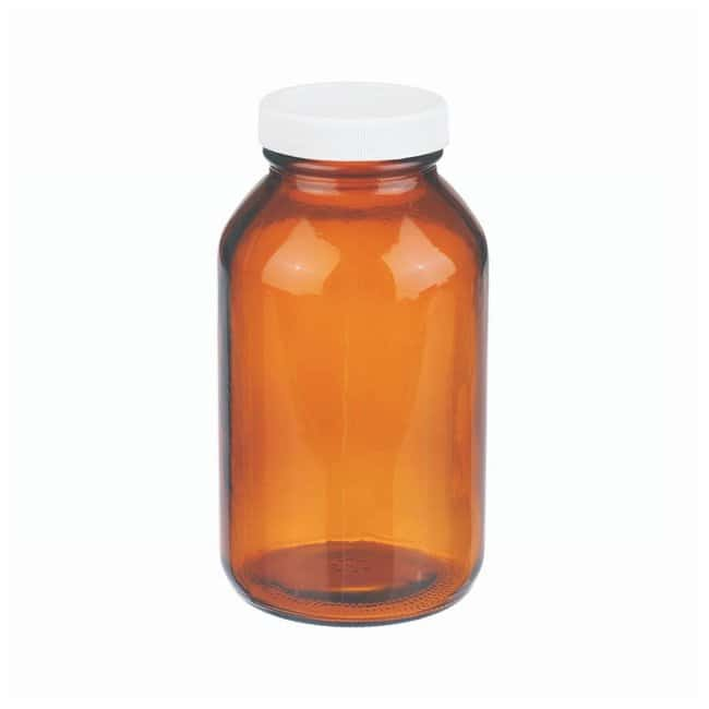 DWK Life SciencesWheaton™ Amber Wide-Mouth Packers with PTFE Faced PP-lined Closures Capac.: 16 oz. (473.18mL); 12/Cs. DWK Life SciencesWheaton™ Amber Wide-Mouth Packers with PTFE Faced PP-lined Closures