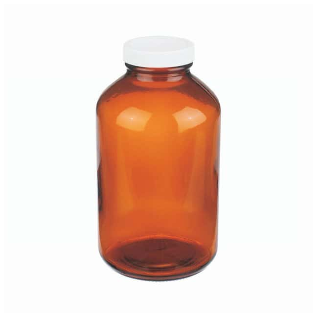 DWK Life Sciences Wheaton™ Bottles Amber Wide-Mouth Packers with Polyvinyl-lined Closures