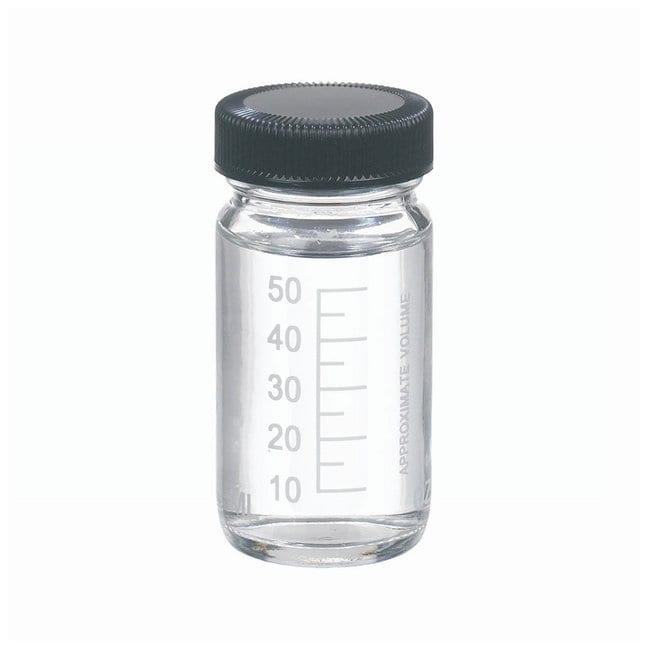 DWK Life SciencesWheaton™ Graduated Valumetric™ Bottles: With Black Phenolic Cap With Rubber Liner w/Black Phenolic cap; w/Rubber liner; Capacity: 2 oz. DWK Life SciencesWheaton™ Graduated Valumetric™ Bottles: With Black Phenolic Cap With Rubber Liner