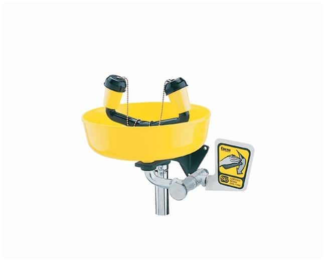 Encon Encon Yello-Bowl Wall-Mount Eyewash ABS plastic head and wye; With