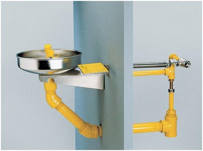 Bradley Frost Proof Wall-Mounted Eyewash Unit Exceeds minimum water flow