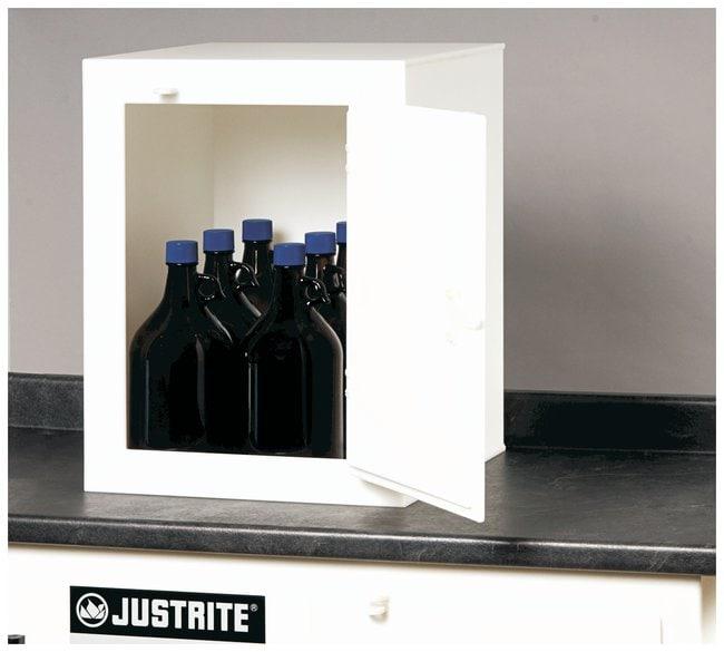 Justrite™Solid Polyethylene Acid Cabinets: One-Door Countertop Model