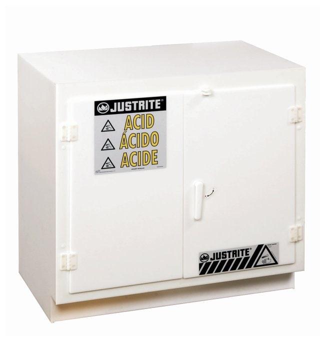 Justrite Solid Polyethylene Acid Cabinets: Two-Door Undercounter Model