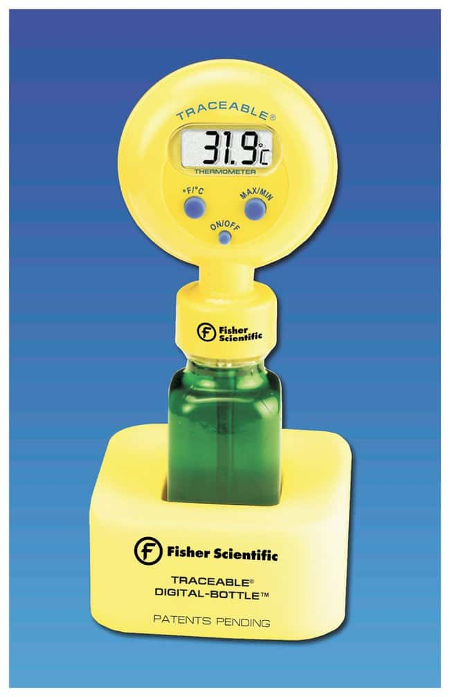 Fisherbrand™Traceable™ Digital-Bottle™ Kühlschrankthermometer Standardmodell; mit Flaschenfüllung von Glasbeads anstelle von Lösung Fisherbrand™Traceable™ Digital-Bottle™ Kühlschrankthermometer