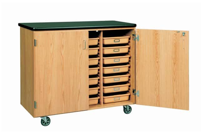 Diversified Woodcrafts™ Mobile Tote Tray Storage Cabinet <img src=