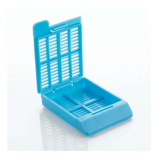 Cancer Diagnostics, Inc. Hinged Tissue Cassettes (Slat Holes) - Taped Bases