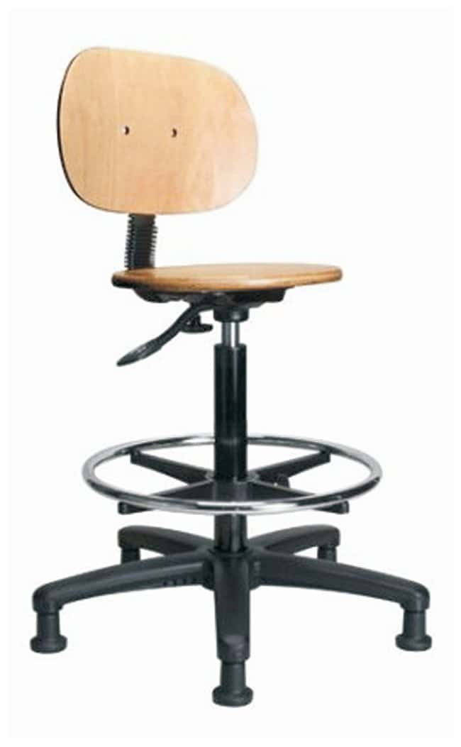 Astounding Fisherbrand Pneumatic Stool With Wooden Seat High Bench Height Furniture Storage Casework Carts And Hoods Seating Andrewgaddart Wooden Chair Designs For Living Room Andrewgaddartcom