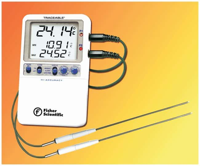 Fisherbrand™ Traceable™ Hi-Accuracy Thermometer With two probes Fisherbrand™ Traceable™ Hi-Accuracy Thermometer