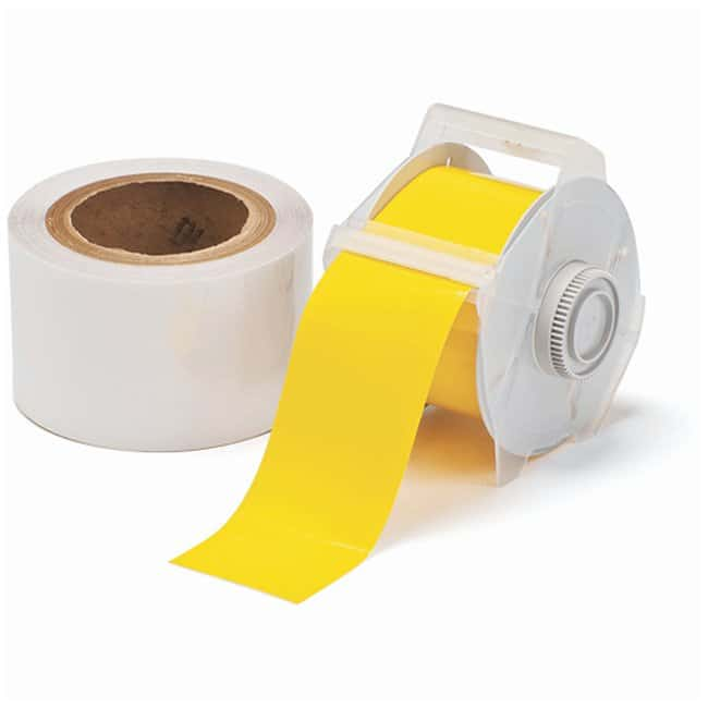 Brady™ ToughStripe™ Labels with Overlaminate Yellow tape and clear overlam; Printer compatibility: GlobalMark; 2.25 in. x 100 ft. Brady™ ToughStripe™ Labels with Overlaminate