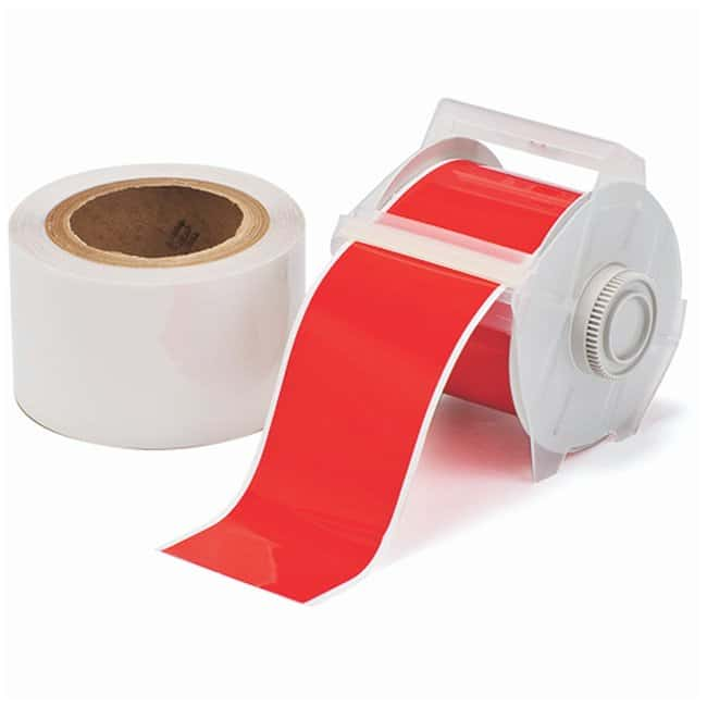 Brady™ToughStripe™ Labels with Overlaminate Red tape and clear overlam; Printer compatibility: GlobalMark; 2.25 in. x 100 ft. Brady™ToughStripe™ Labels with Overlaminate