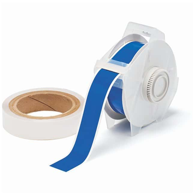 Brady™ToughStripe™ Labels with Overlaminate Blue tape and clear overlam; Printer compatibility: GlobalMark; 2.25 in. x 100 ft. Brady™ToughStripe™ Labels with Overlaminate