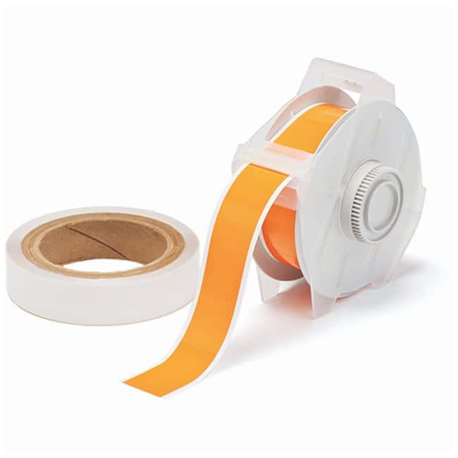 Brady™ ToughStripe™ Labels with Overlaminate Orange tape and clear overlam; Printer compatibility: GlobalMark; 1.25 in. x 100 ft. Brady™ ToughStripe™ Labels with Overlaminate