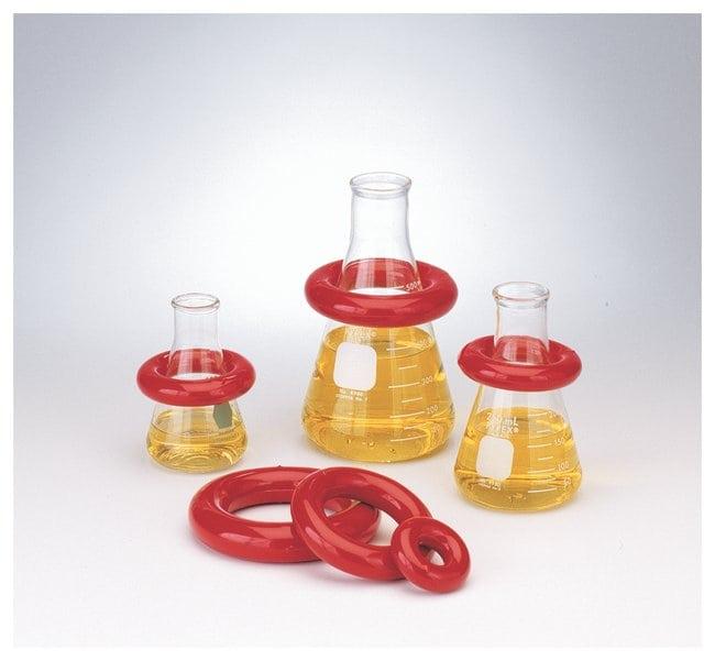 Bel-Art™Runde Bleiringe mit Vikem™ Vinyl-Ummantelung For 250-1000mL flasks Laborkolben - Trocknungsgestelle
