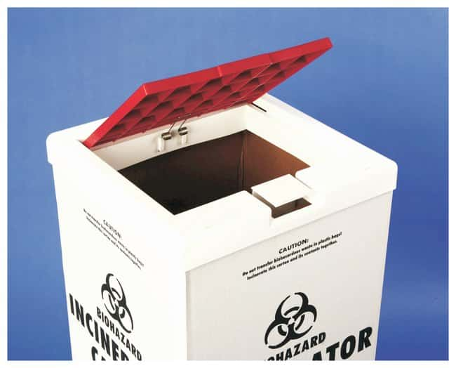 FisherbrandCover for Biohazard Incinerator Disposal Carton White/Red:Facility
