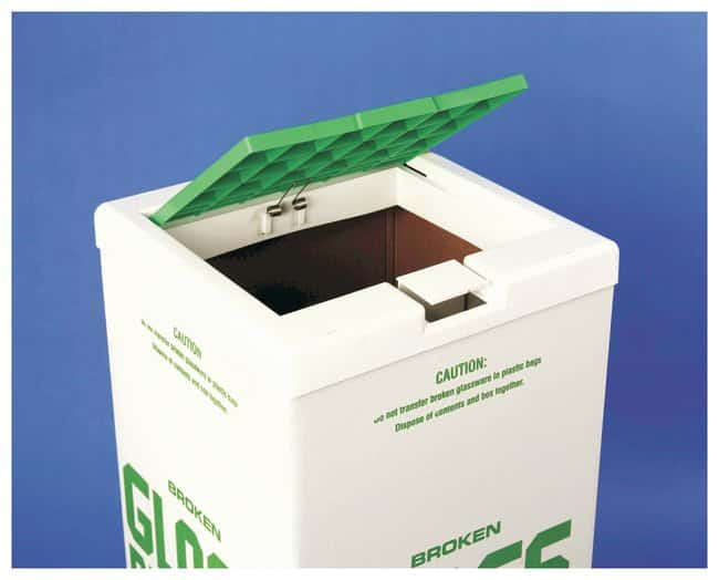 FisherbrandCover for Glass Disposal Carton White/Green:Facility Safety