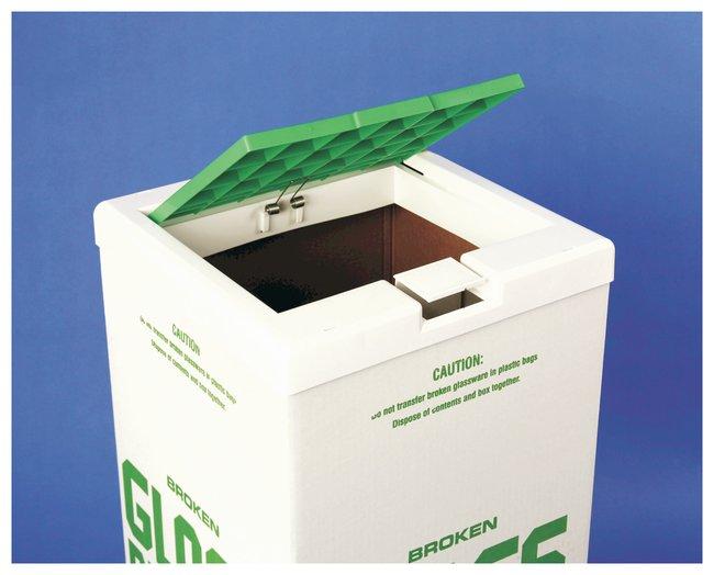 Bel-ArtSP Scienceware Cover for Glass Disposal Carton White/Green:Facility