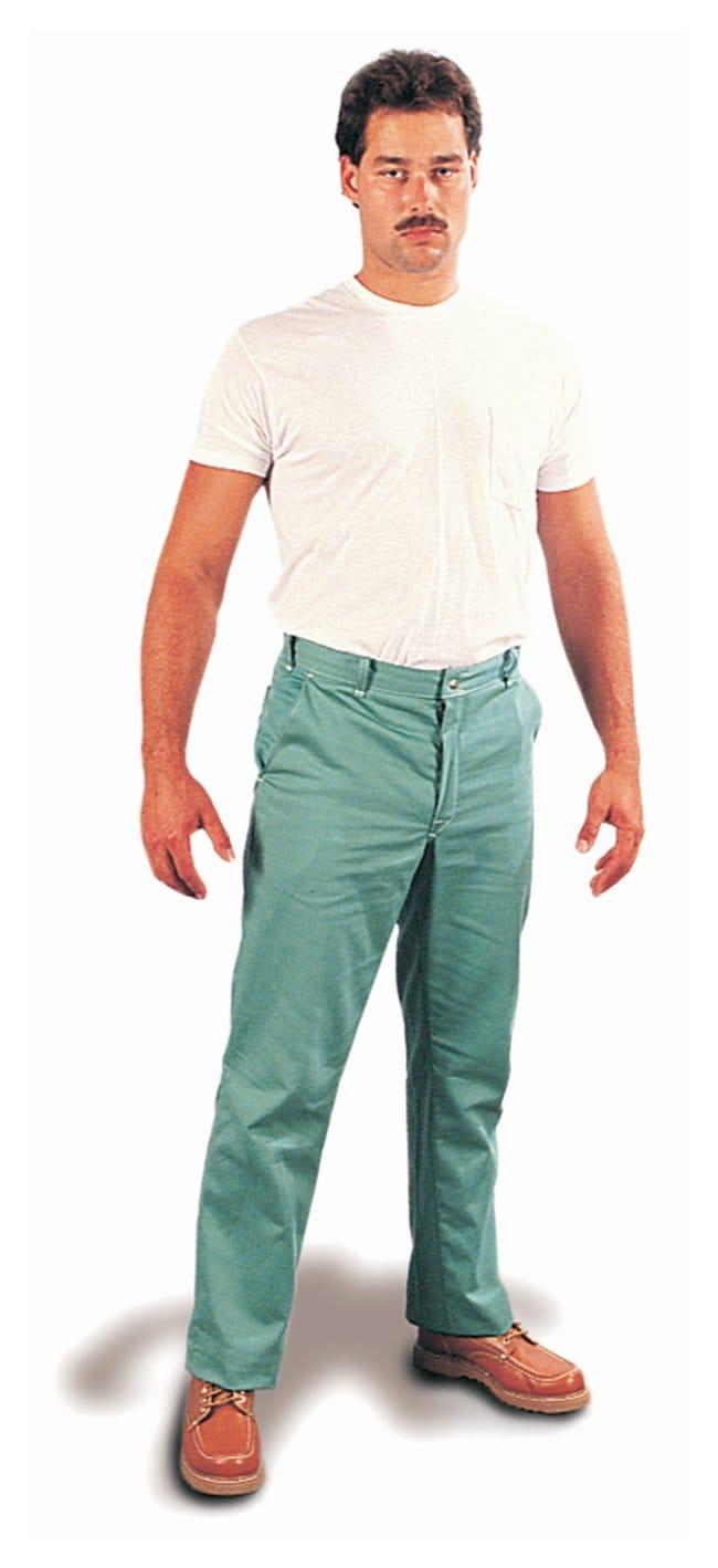 Steel Grip Flame-Resistant 11 oz. Cotton Pants Inseam: 34; Waist: 32 in.:Gloves,