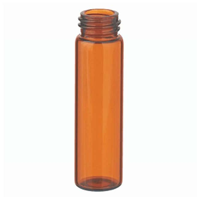 DWK Life Sciences Wheaton™ Glass Sample Vials in Lab File without Caps 8mL; Amber; 15-425; 17 x 60mm DWK Life Sciences Wheaton™ Glass Sample Vials in Lab File without Caps